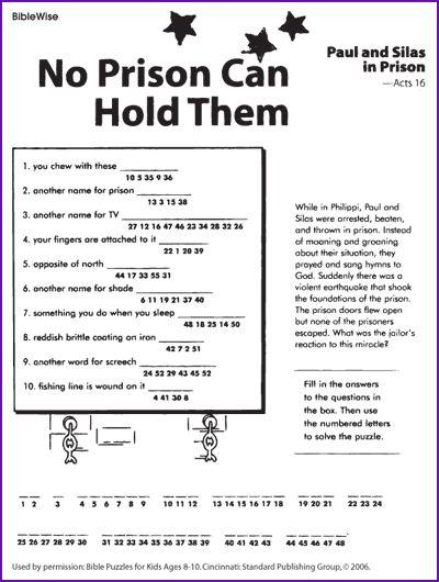 Best Bible Puzzles Kids Church
