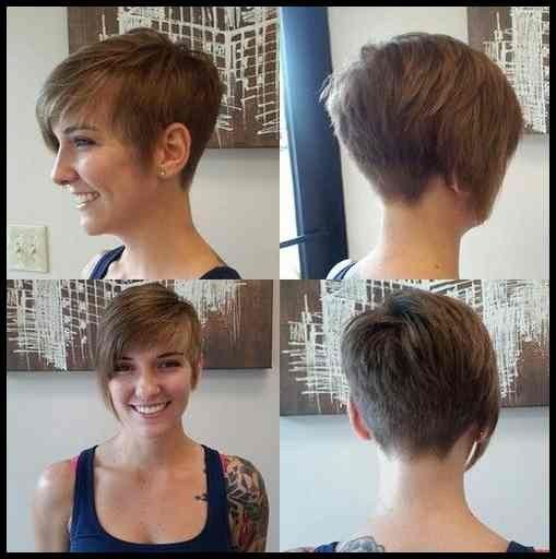 Asymmetrisch Kurze Frisur Pixie Haircut Mit Bangs Haircuts