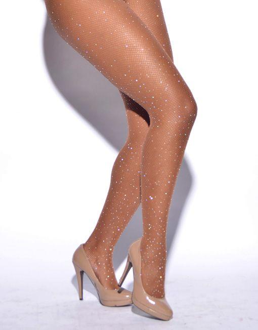 Limited Edition Crystallized Fishnet Tights | Nude Barre | #NudeComesInAllShades