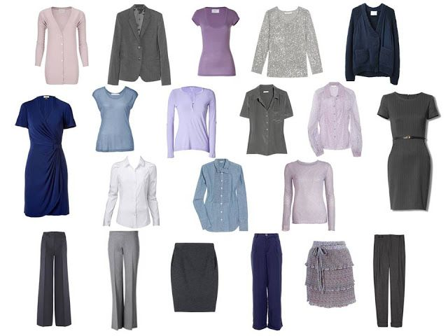 Wardrobe: gray, navy and lavender | The Vivienne Files