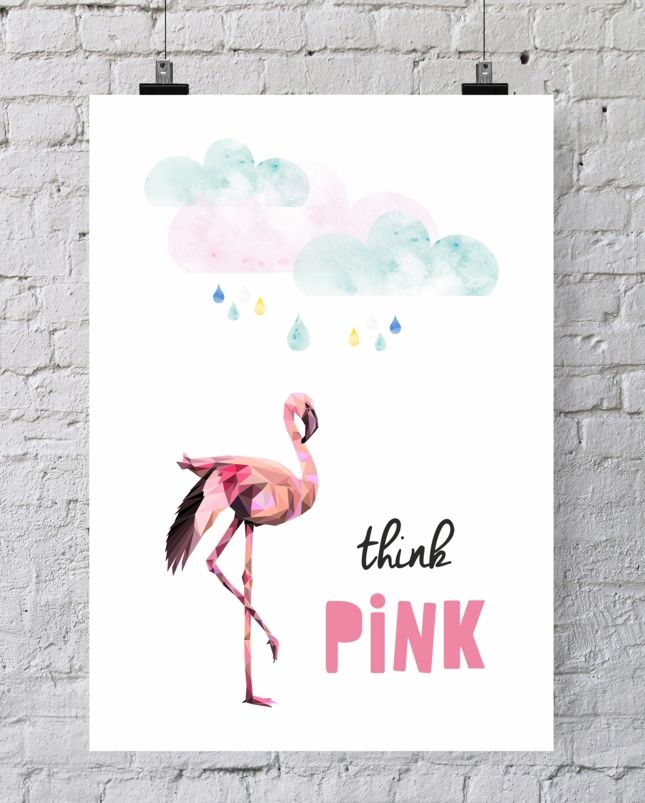 Think pink <3 Lovely wall decoration idea.
