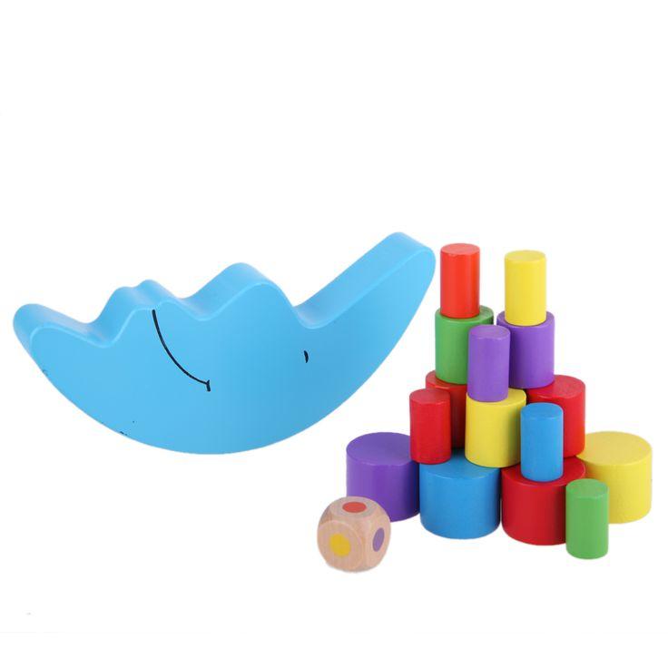 19Pcs/Set Moon Shape Balancing Toy Building Blocks Baby Early Learning Balance Training Toy Wood Educational Toys K5BO
