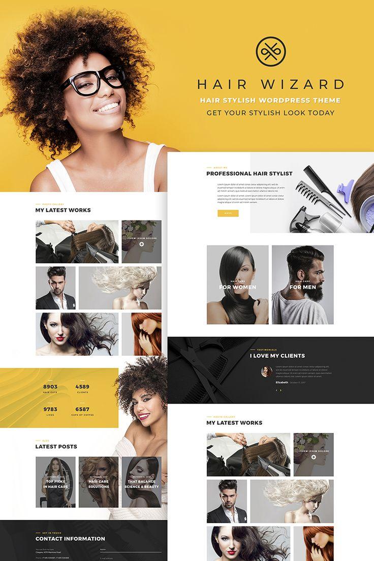 Trendy Hair Stylist #Wordpress #template. #themes #business #responsive #Wordpressthemes