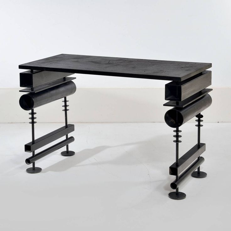Lacquered Metal Desk Or Console By Hubert Le Gall | From A Unique Collection  Of Antique