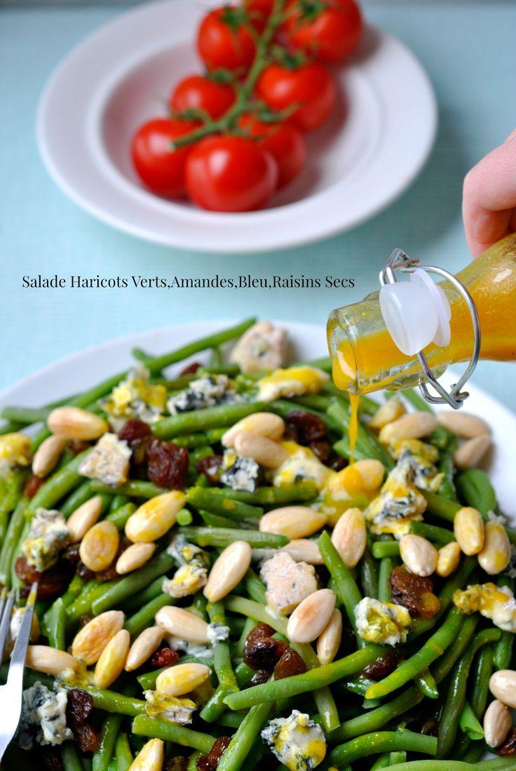Salade Haricots Verts,Amandes,Bleu,Raisins Secs 4
