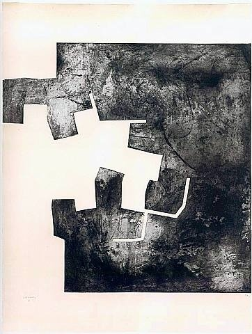 Homenaje a Rembrandt II 1976 Eduardo Chillida (Spanish, 1924-2002) Etching on paper h: 160 x w: 120 cm / h: 63 x w: 47.2 in