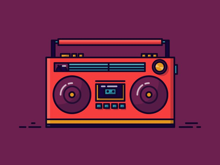 Had so much fun with designing the retro Polaroid, so I decided to make another retro item with the same color scheme.
