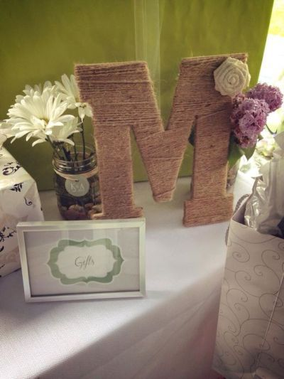 Monograms and bridal showers are a perfect match. See more bridal shower invitation ideas and party ideas at www.one-stop-party-ideas.com