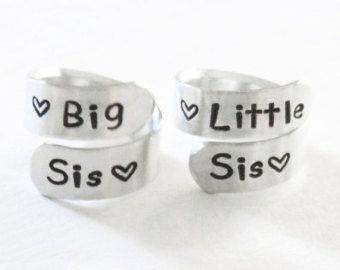 Big Sisters Ring Sister Jewelry Big Sister Ring by PureImpressions