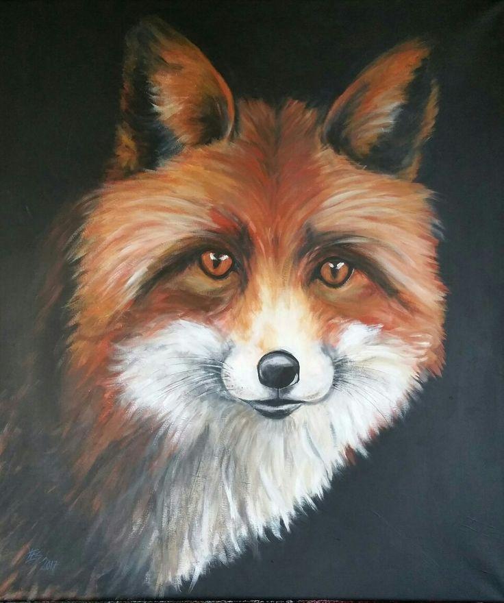Fox 60x70cm Acrylic on canvas