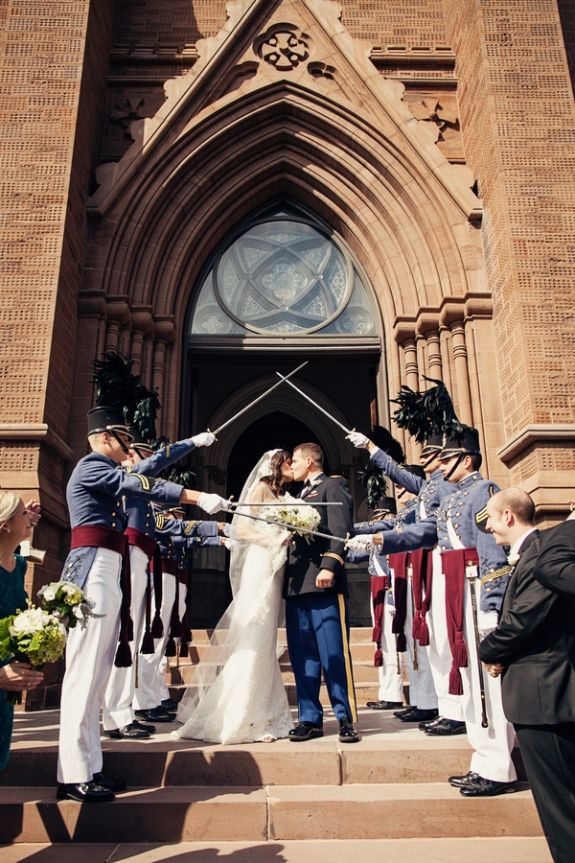 We plan on having The Citadel sword achors at the wedding. Because my fiance is in the military he may opt to wear his uniform as well.