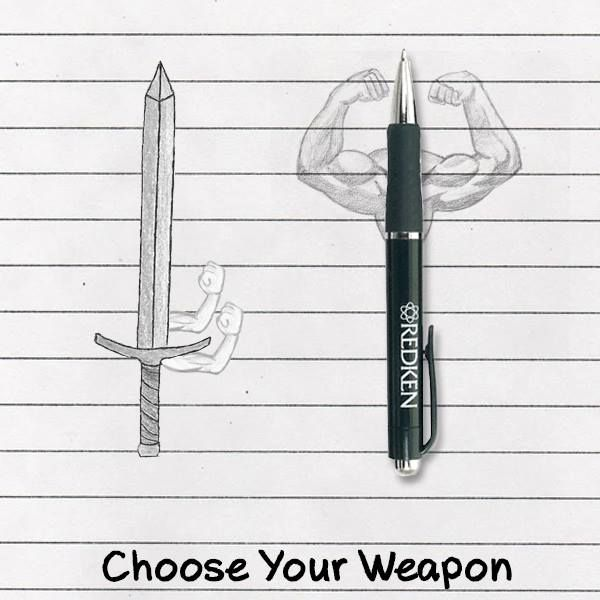 """an explanation of the saying the pen is mightier than the sword There's an old adage that """"the pen is mightier than the sword"""" growing up, it always bothered me i knew it to be wrong obviously a sword is mightier, and even on the metaphorical level, the world seemed changed more often through violence than literature."""