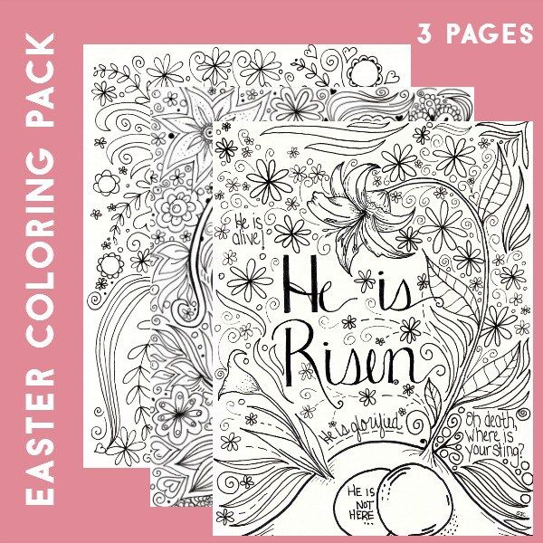 Easter Coloring Pages Advanced : Best images about christian coloring pages nt on