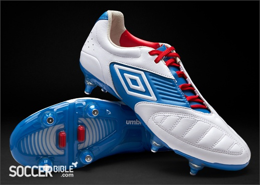 Umbro Geometra Pro Football Boots - White/Blue/Red - http://www.soccerbible.com/news/football-boots/archive/2012/06/18/umbro-geometra-pro-football-boots-white-blue-red.aspx