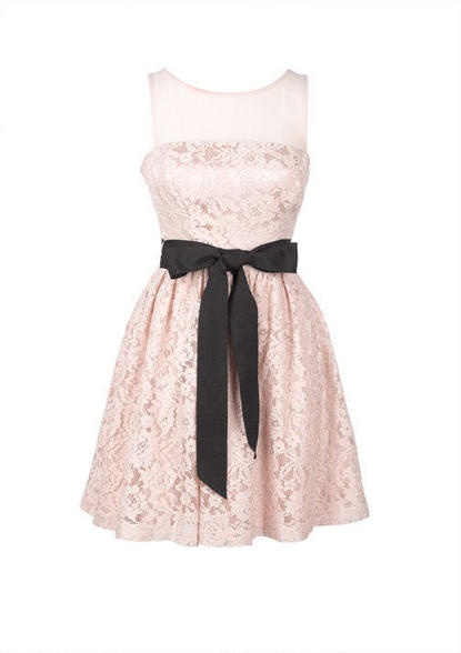 tiffany co stores Belted Lace and Mesh Dress