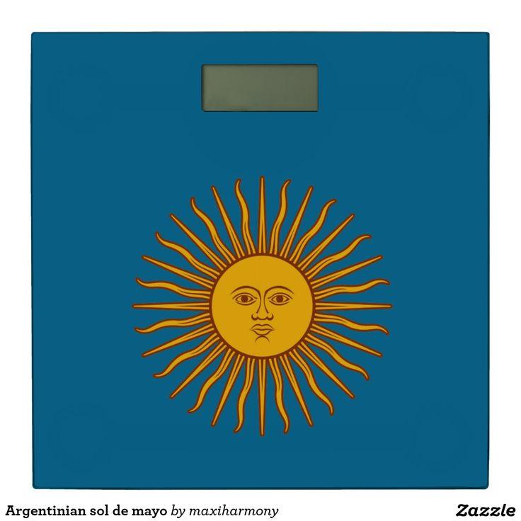 Argentinian sol de mayo bathroom scale