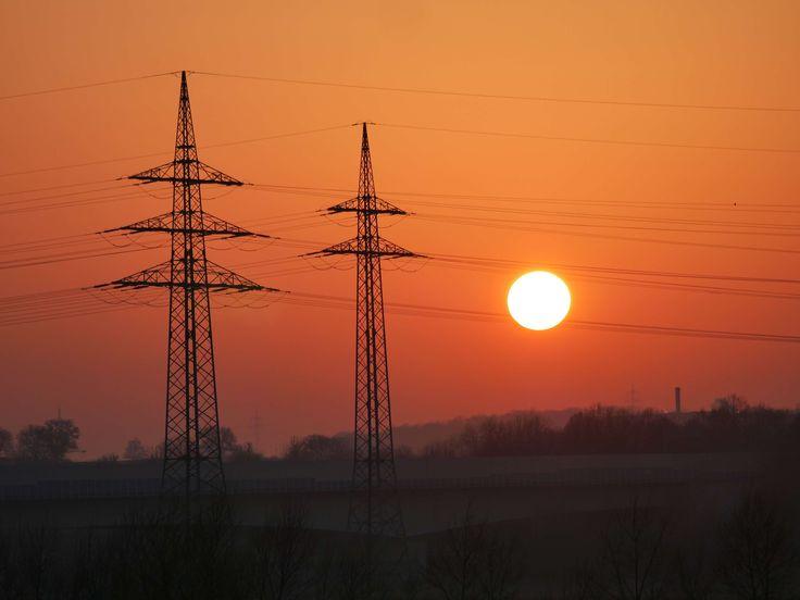 #afterglow #atmospheric #baden wrttemberg #cable #catenary #current #dusk #energy #go under #heilbronn #highway #industry #landline #opposites #partly cloudy #power line #power plant #power poles #region #stuttgart #