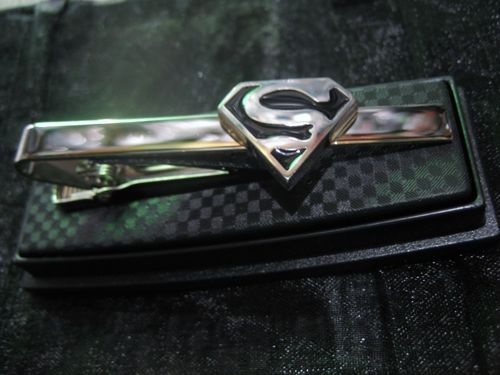 Custom Wedding Gifts Superman Batman Spiderman Superhero Tie Clip Clasp Pin Necktie Ties