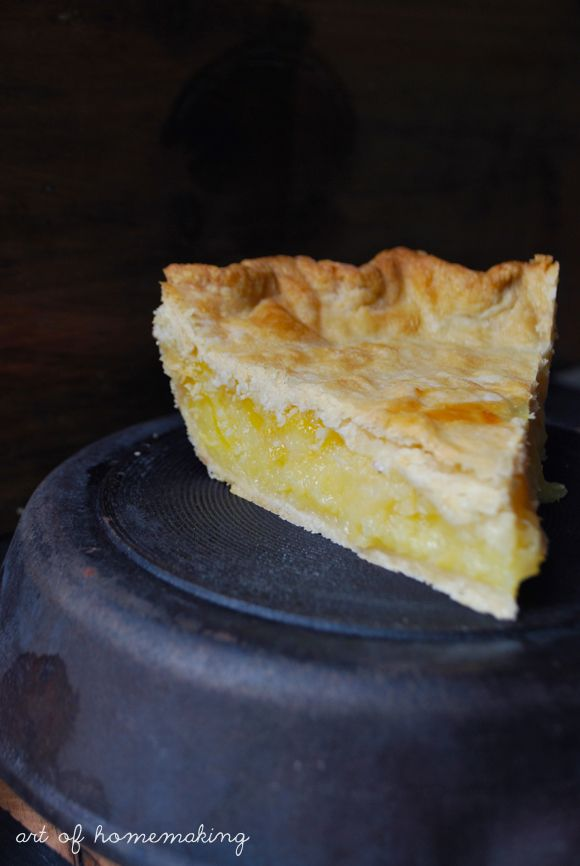 Shaker Lemon Pie ~ I had this pie when I visited the Shaker Village in Kentucky. They called it Chess pie. I'd never heard of it before, then I was told it was a lemon pie. Very good and really sweet.