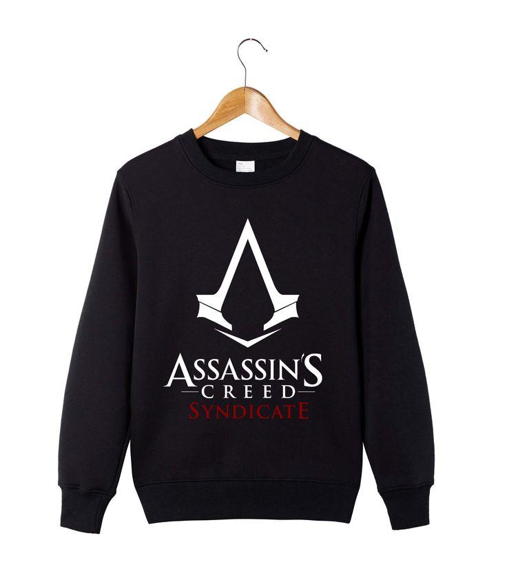 Assassins creed sweatshirt men fashion mens hoodies and sweatshirts Round collar O neck cotton leisure hoodies