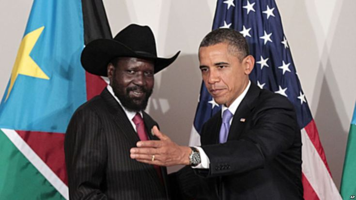 President Salva Kiir with President Barack Obama