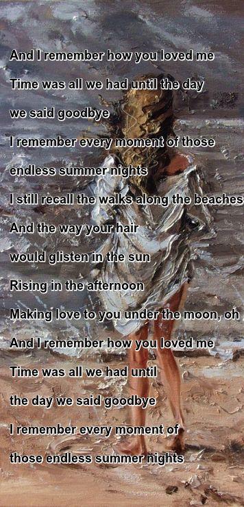 """Endless Summer Nights"" by Richard Marx"