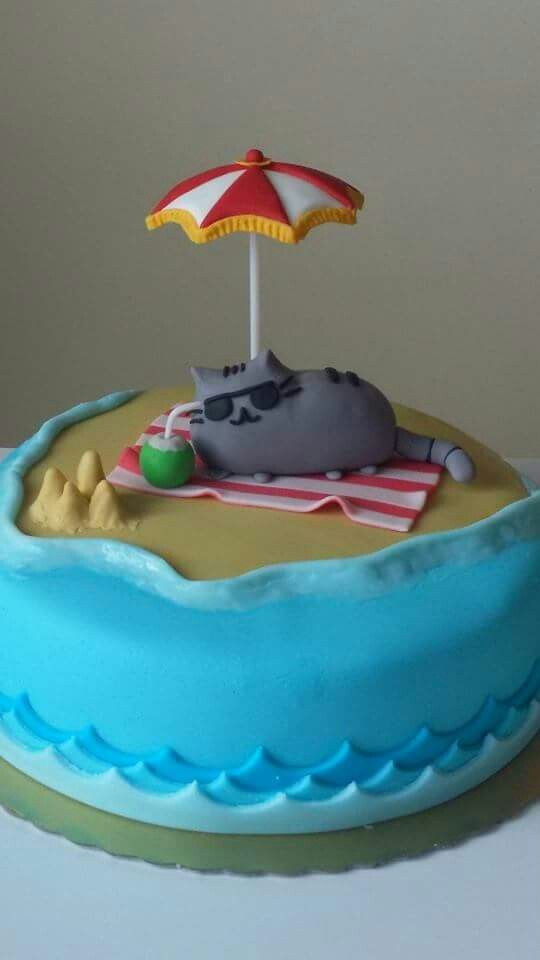 Pusheen Cake My Creations Pinterest Cakes Beach