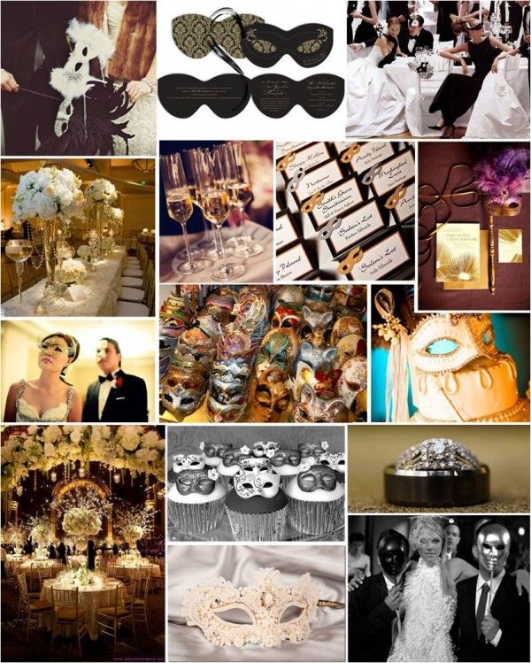 Masquerade Wedding Themes Offer The Formal Aspects Of A Black Tie But Add Whimsical Old World Romanticism An Elegant Ball