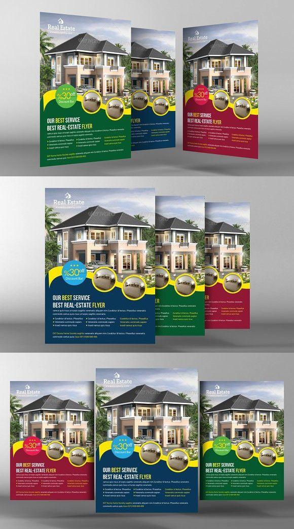 real estate flyer template brochure building graphic design