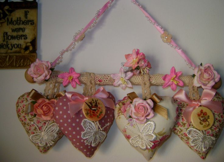 shabby chic lavender hearts by JH