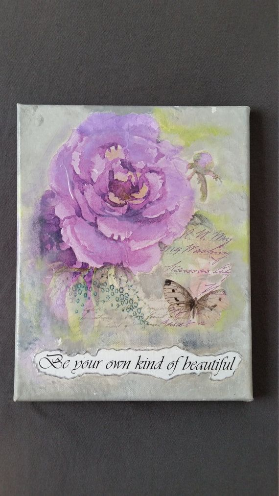 Be your own kind of beautiful quote Wall art Home by MGMCraft