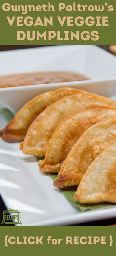 "Want to try out some of these recipes from Gwyneth Paltrow's cookbook, ""It's All Good"" This is a healthy, vegan recipe for veggie dumplings and dipping sauce!"