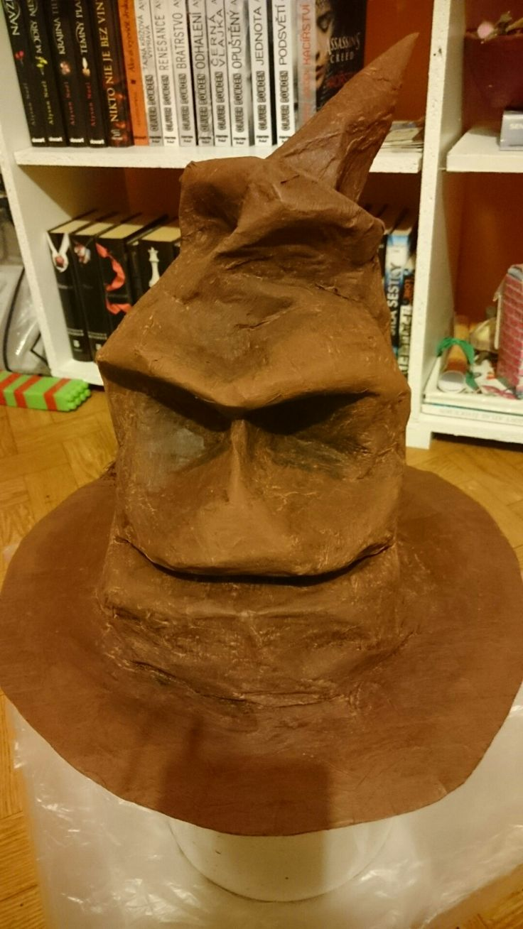 Sorting hat harry potter homemade paper hat