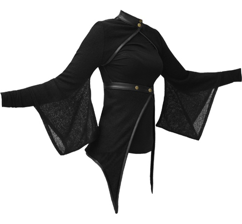 I found 'Vodabox - Kimono Shrug & Wrap w/ leather look Trim & Polo Neck' on Wish, check it out!