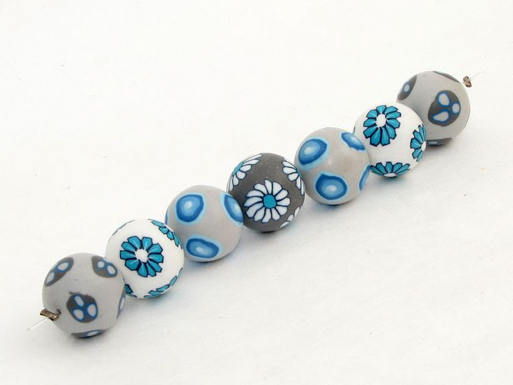 Designer Perlen aus Polymer clay  Fimo Millefio... von filigranDesign        Künstler-Perlen und Schmuck aus Polymer clay und Fimo auf DaWanda.com