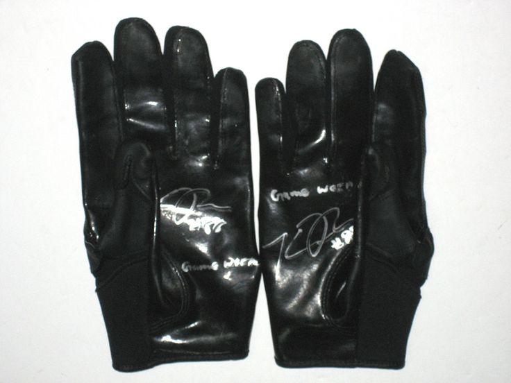 Konrad Reuland New York Jets Game Worn & Signed Black Cutters Gloves