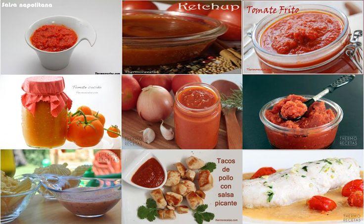 9 salsas de tomate - Recetas Thermomix