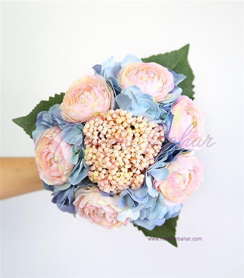 Gelin Çiçeği Mavi Ortanca Somon Güller