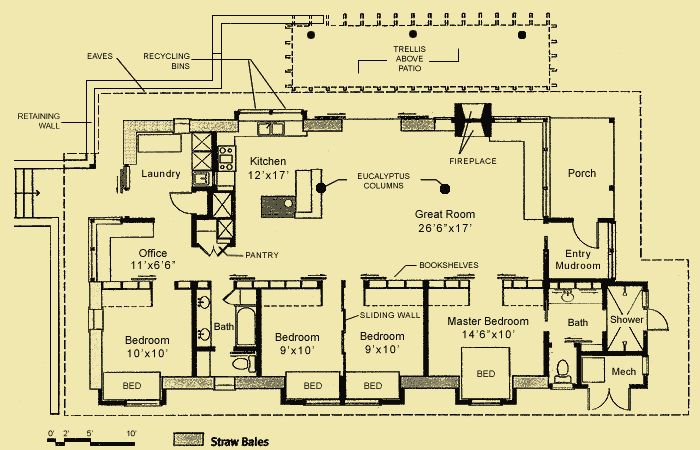 passive solar straw bale house plans | Green Building ... |Small Straw Bale House Plans