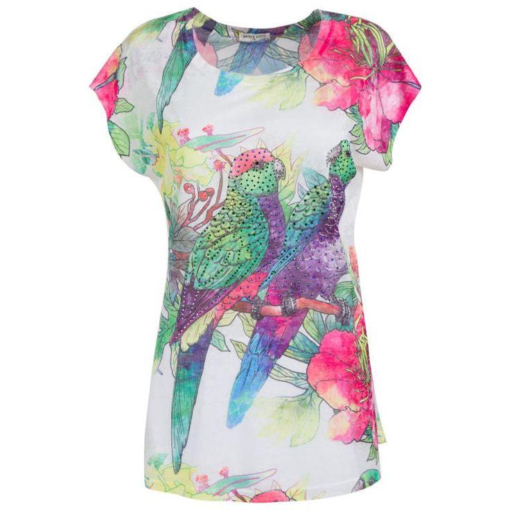 Γυναικεία Μπλούζα T-Shirt Parrot Brave Soul #moda #style #sales