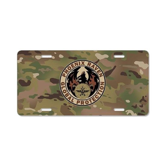 4de016ff Phoenix Raven (Subdued) Aluminum License Plate | Military: Air Force ...