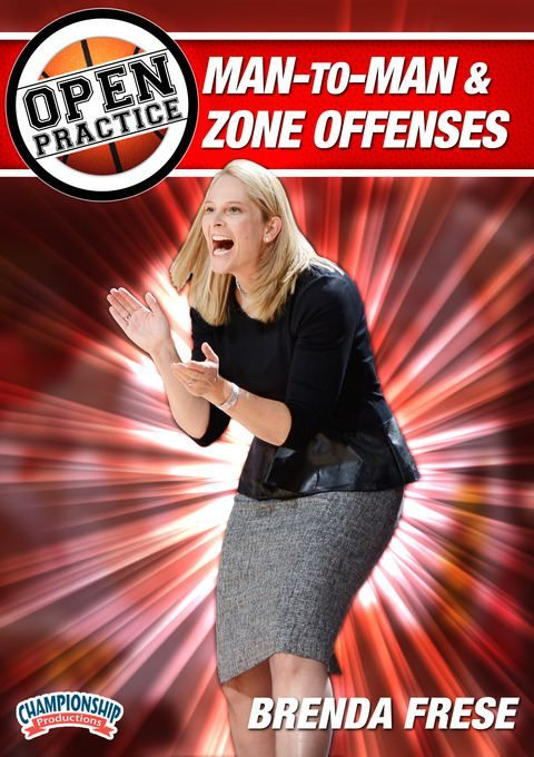 Brenda Frese - Open Practice: Man-to-Man and Zone Offenses - Coach's Clipboard #Basketball DVD Store