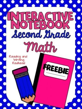 FREEBIE Interactive Notebook for Second Grade-Money Grab this freebie of several pages from my soon to come math interactive notebook for second grade. Includes a coin equivalent chart for student reference and several flap books where students record different ways to show money amount. Could be used to differentiate with first grade and third grade as well.