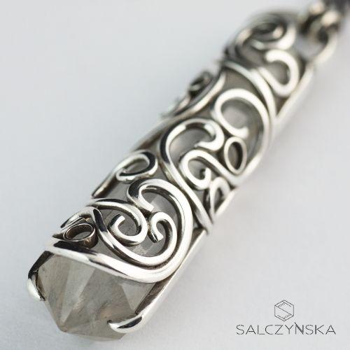 Srebrny wisior z kwarcem górskim / Salczyńska / Biżuteria / Wisiory