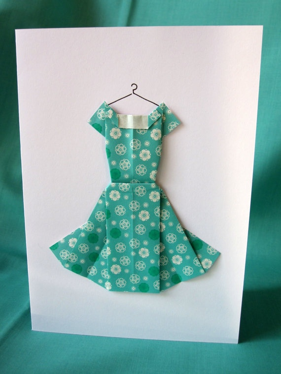 54 best paper wardrobe images on pinterest paper dresses dress handmade origami dress birthday greeting card by terriblelizard 300 bookmarktalkfo Image collections