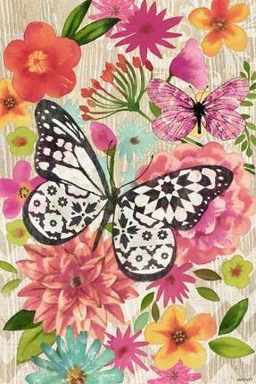 Flores mariposas amigas
