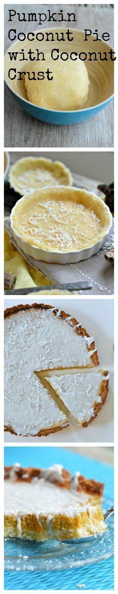 Sugar free & Gluten free Pumpkin Pie with Coconut Frosting
