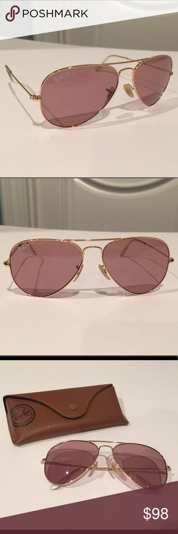 Ray Ban Polarized J Crew edition Like new no signs  of wear. Ray-Ban Accessories Sunglasses