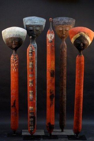 Etiyé DIMMA POULSEN Mixed media sculptures