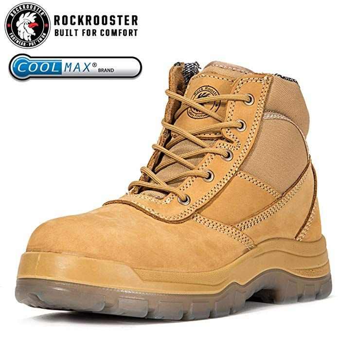 8d80351d54b ROCKROOSTER Men's Work Boots, Composite/Steel Toe, Safety Water ...